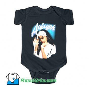 Aaliyah Airbrush Bandana Photo Baby Onesie