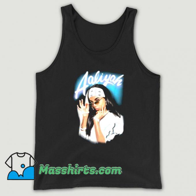 Aaliyah Airbrush Bandana Photo Tank Top