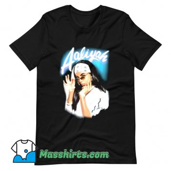 Aaliyah Airbrush Bandana Photo T Shirt Design