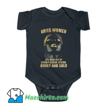 Aries Brown Sugar Cocoa Honey And Gold Baby Onesie