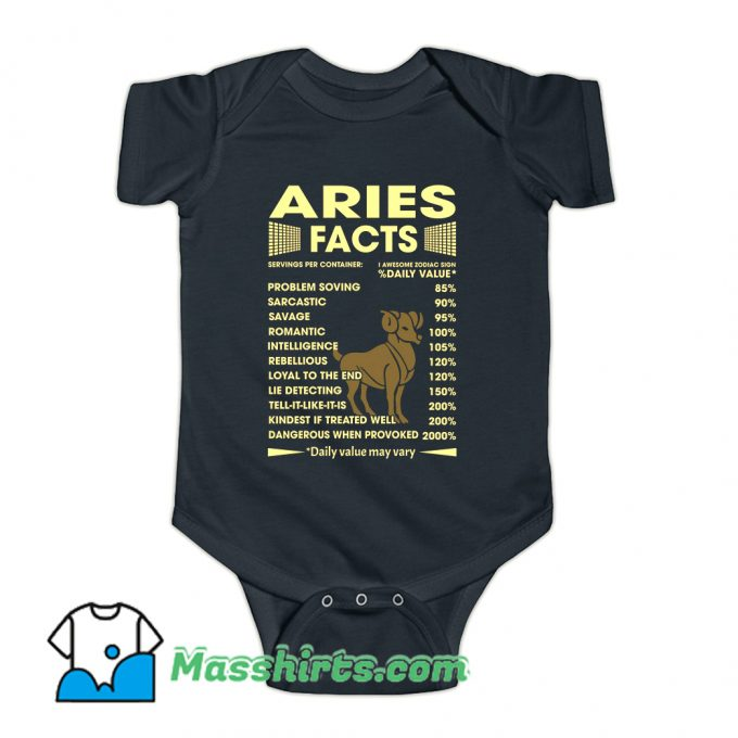 Aries Facts Servings Per Container Baby Onesie