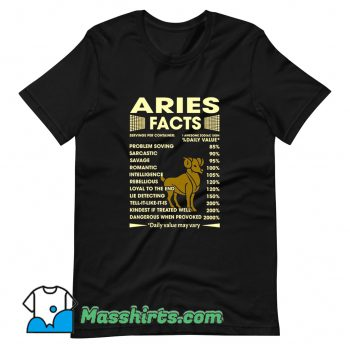 Aries Facts Servings Per Container T Shirt Design