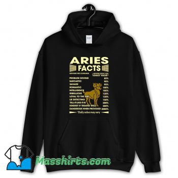 Aries Facts Servings Per Container Hoodie Streetwear