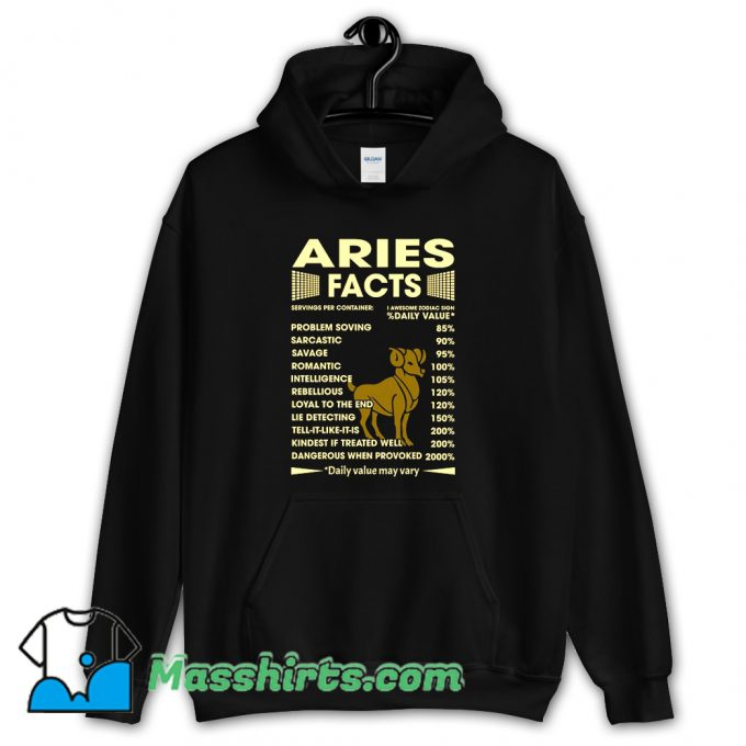 Aries Facts Servings Per Container Hoodie Streetwear