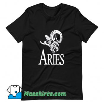 Funny Aries Horoscope Logo T Shirt Design