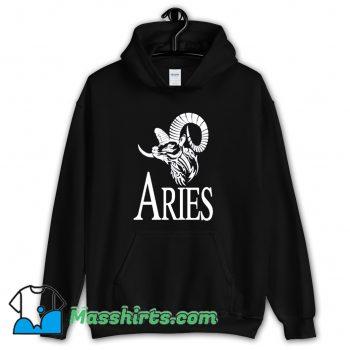 Vintage Aries Horoscope Logo Hoodie Streetwear