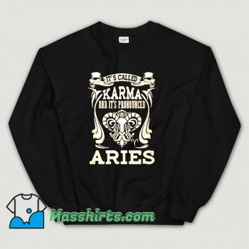 Vintage Aries Its Called Karma Sweatshirt