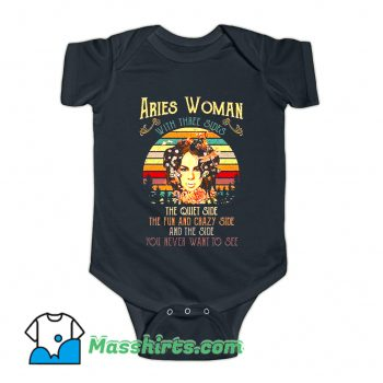 Aries Woman With Three Sides Baby Onesie