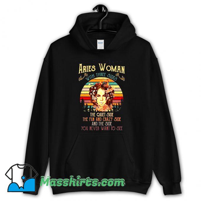 Aries Woman With Three Sides Hoodie Streetwear