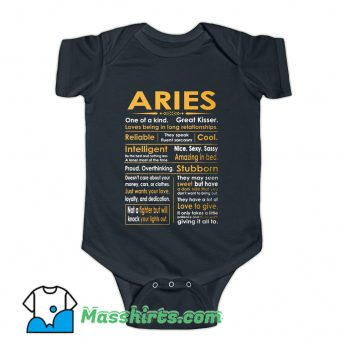 Funny Aries Zodiac Sign Baby Onesie