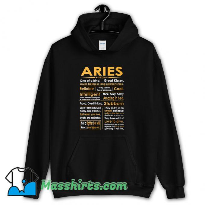 Aries Zodiac Sign Hoodie Streetwear