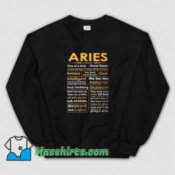 Aries Zodiac Sign Sweatshirt