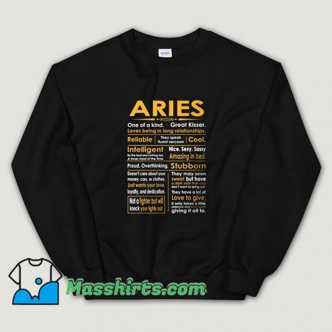 Aries Zodiac Sign Sweatshirt