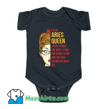 Astrology Aries Queen Zodiac Baby Onesie