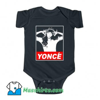 Funny Beyonce Yonce Obey Baby Onesie