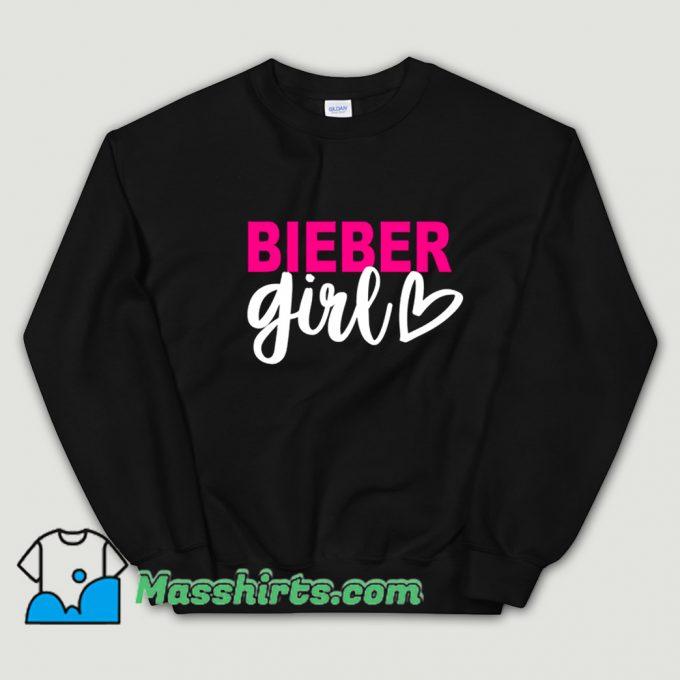 Bieber Girl Singer Music Sweatshirt