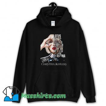 Christina Aguilera Bionic Lotus Album Hoodie Streetwear
