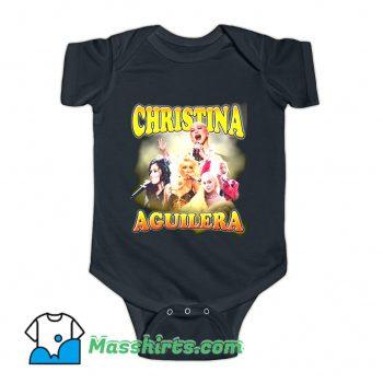 Christina Aguilera Performance Music Baby Onesie