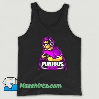 Cheap Cyber Ninja Mascot Logo Tank Top