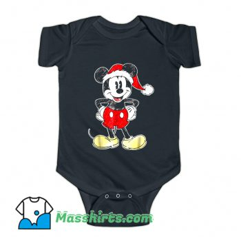 Disney Mickey Mouse Christmas Baby Onesie