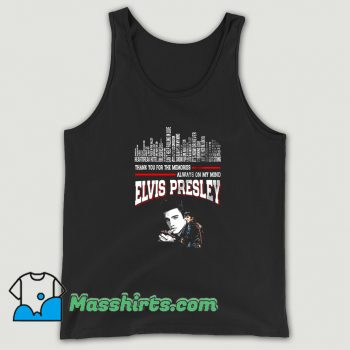Elvis Presley Always On My Mind Tank Top On Sale