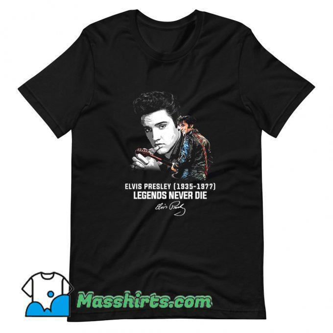Elvis Presley Legends Never Die 1977 T Shirt Design