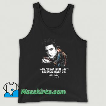 Funny Elvis Presley Legends Never Die 1977 Tank Top