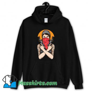 Gangster Girl Holding Gun Vector Hoodie Streetwear