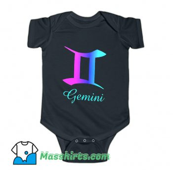 Gemini Zodiac Sign Pink Purple Baby Onesie