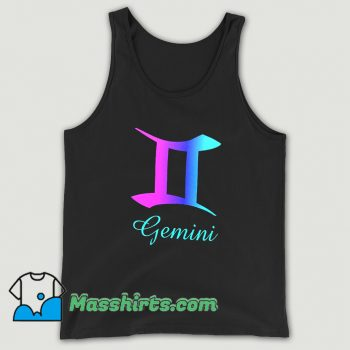 Original Gemini Zodiac Sign Pink Purple Tank Top