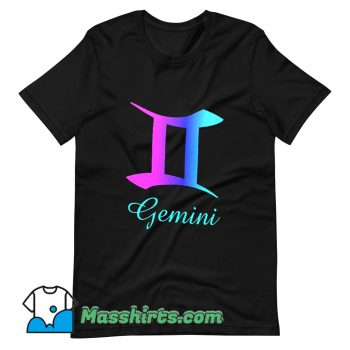 Funny Gemini Zodiac Sign Pink Purple T Shirt Design