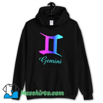 Cheap Gemini Zodiac Sign Pink Purple Hoodie Streetwear