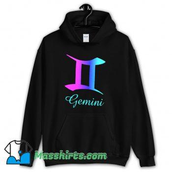 Cheap Gemini Zodiac Sign Pink Purple Hoodie Streetwear