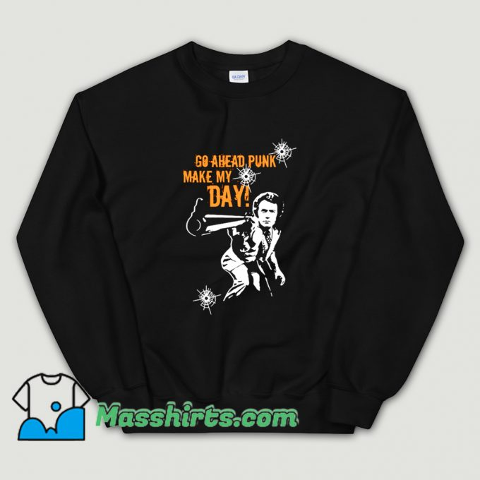 Cheap Go Ahead Punk Sweatshirt