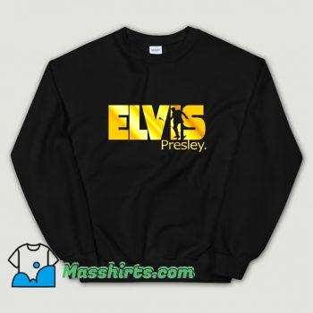 Gold Print King Rock Music Elvis Presley Sweatshirt