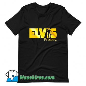 Elvis Presley Gold Print King Rock Music T Shirt Design