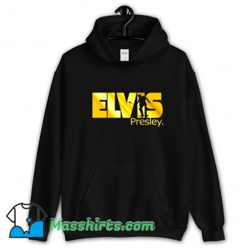 Gold Print King Rock Music Elvis Presley Hoodie Streetwear