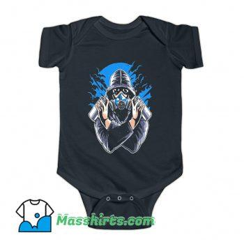 Graffiti Gas Mask Baby Onesie