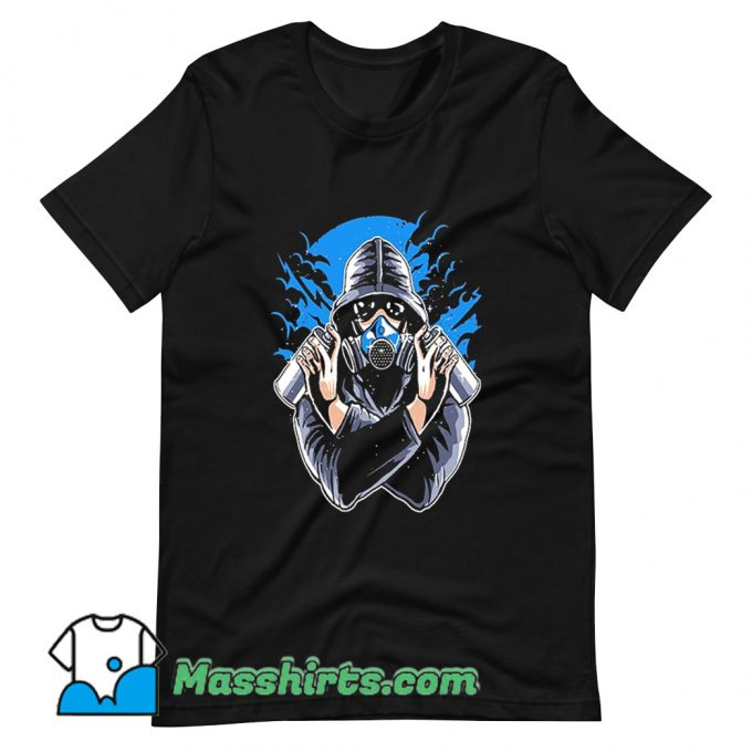 Graffiti Gas Mask T Shirt Design