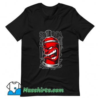 Classic Graffiti Spray Monster T Shirt Design