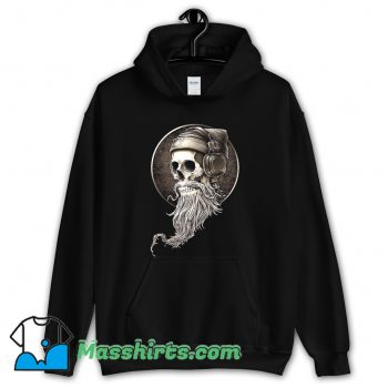 Vintage Hip Hop Skull Beard Hoodie Streetwear
