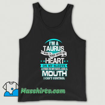 Classic I Am A Taurus All Over Heart Tank Top