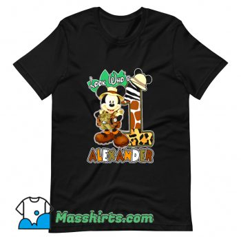 Look Who Mickey Birthday Safari T Shirt Design