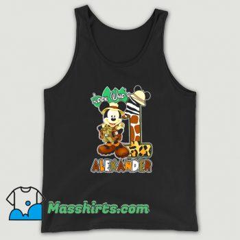 Look Who Mickey Birthday Safari Tank Top
