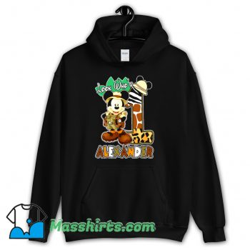 Look Who Mickey Birthday Safari Hoodie Streetwear