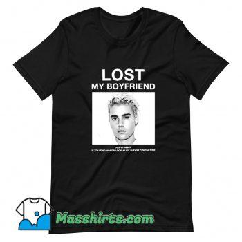 Lost My Boyfriend Justin Bieber T Shirt Design