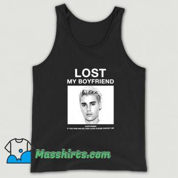 Funny Lost My Boyfriend Justin Bieber Tank Top