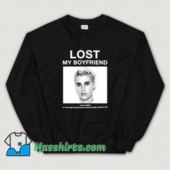 Original Lost My Boyfriend Justin Bieber Sweatshirt