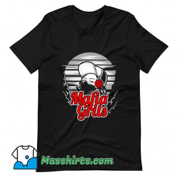 Original Mafia Girl and Rose Hand T Shirt Design