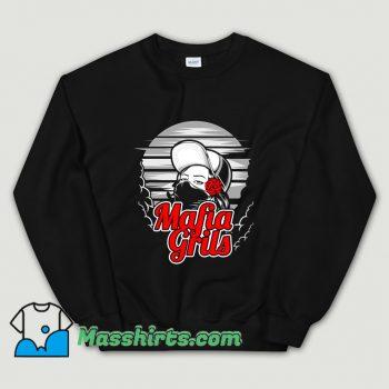 Mafia Girl and Rose Hand Sweatshirt On Sale